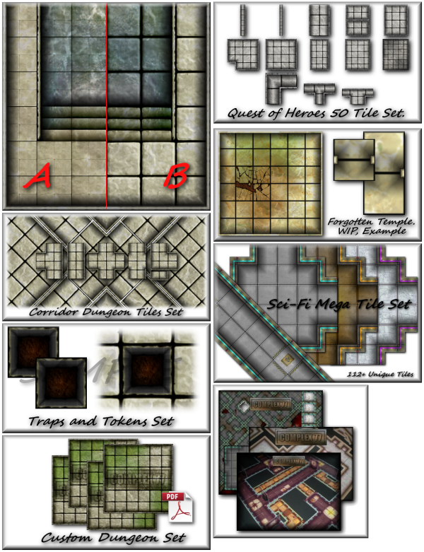 Living Dungeon Tile Set PDF by Complex 77 — Kickstarter
