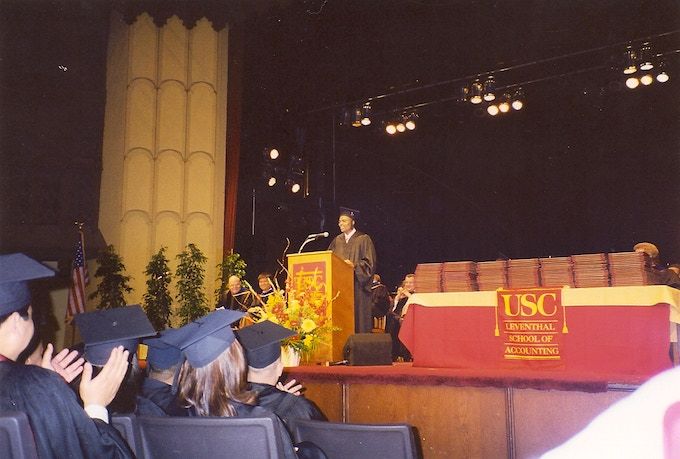 Me!  The USC Leventhal School of Accounting Student Commencement Speaker
