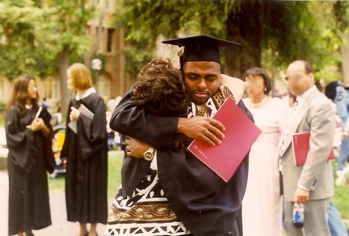 USC graduation day.  I DID IT!!!