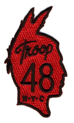 "$5 pledge = Troop K48 Patch, 3.5"" (Please add $2 shipping international. No extra shipping within the U.S.)"