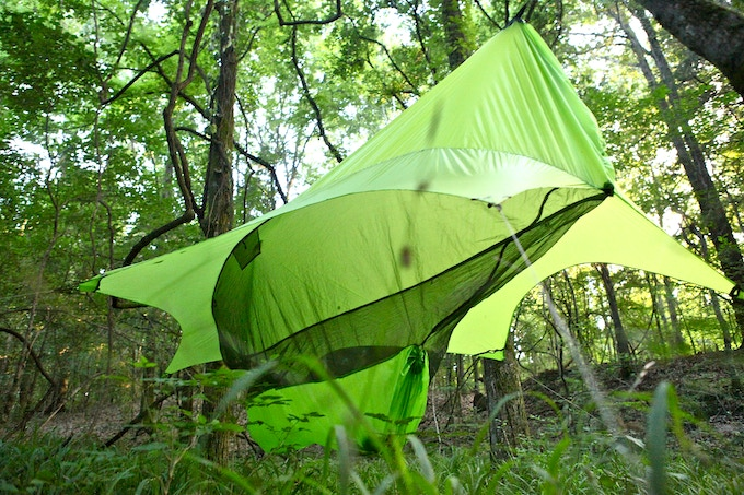 The Nubé gear storage, insect shield, and water barrier in the lime light!
