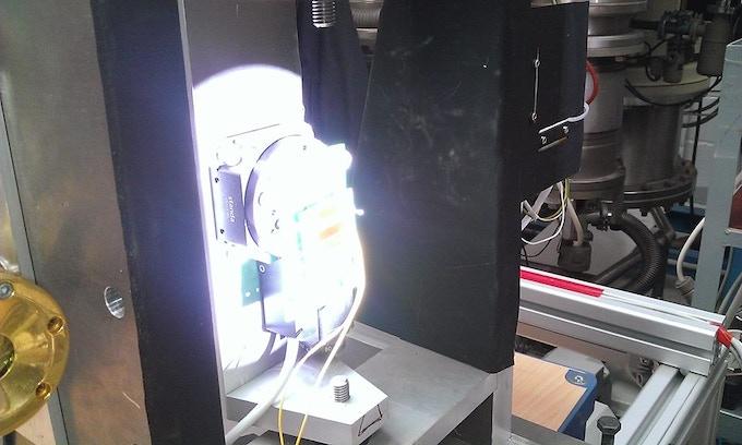 Sun simulation test for testing WRENs solar panels
