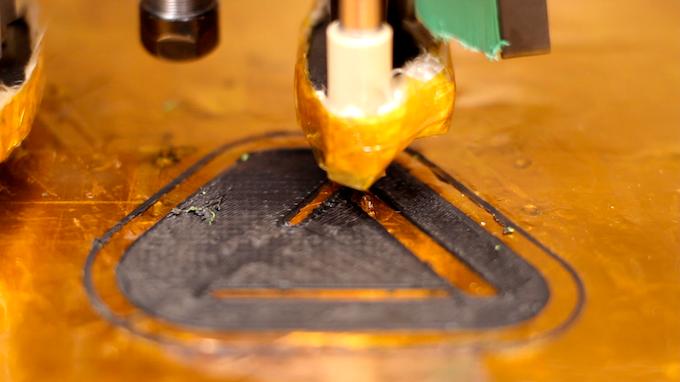 Microfactory printing a key fob