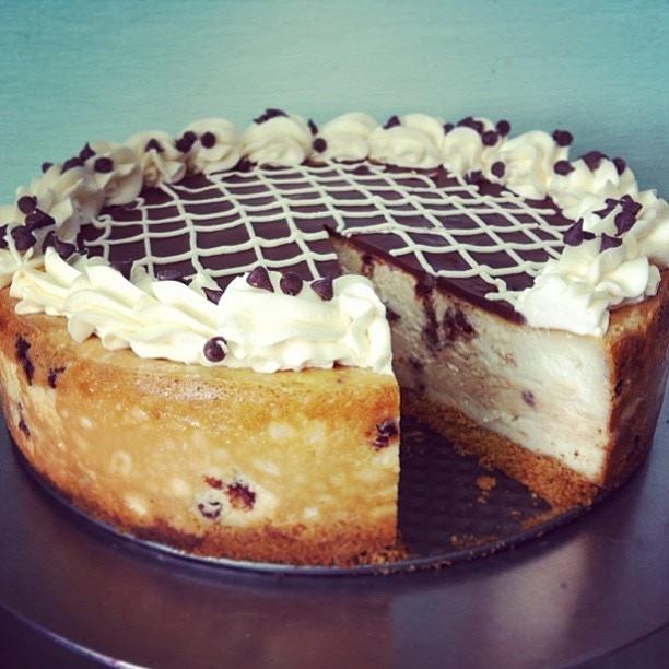 Vegan Chocolate Chip Cheesecake