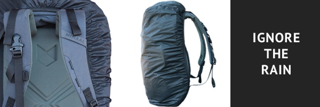 A seam-sealed rain cover that's easy to pull on, packs into itself and can be removed if unnecessary. It just... makes... sense.