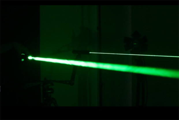 How to take one laser beam and make it bigger! This demonstrates how we can use a laser beam expander to really make the Dalek come alive. Image courtesy of Wicked Lasers, thank you very much for letting me use it (and being so friendly!).