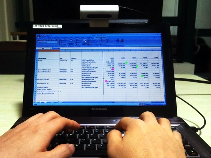 Make Excel simpler with five-finger multitouch