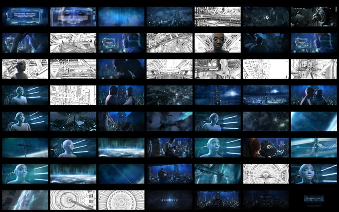 *Work in progress contact sheet. (White shots are still to be fully rendered).