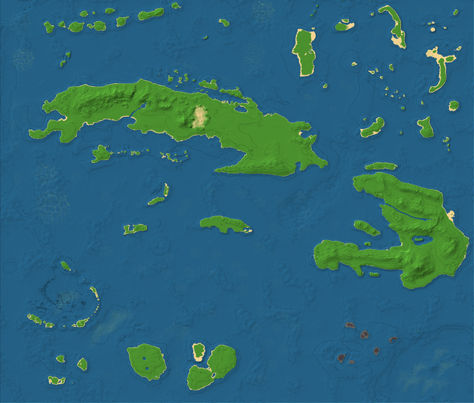"""A Look at our Custom """"West Indies"""" Map"""