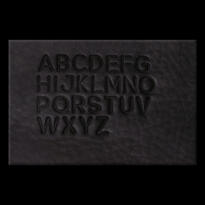 The font for the stamp.