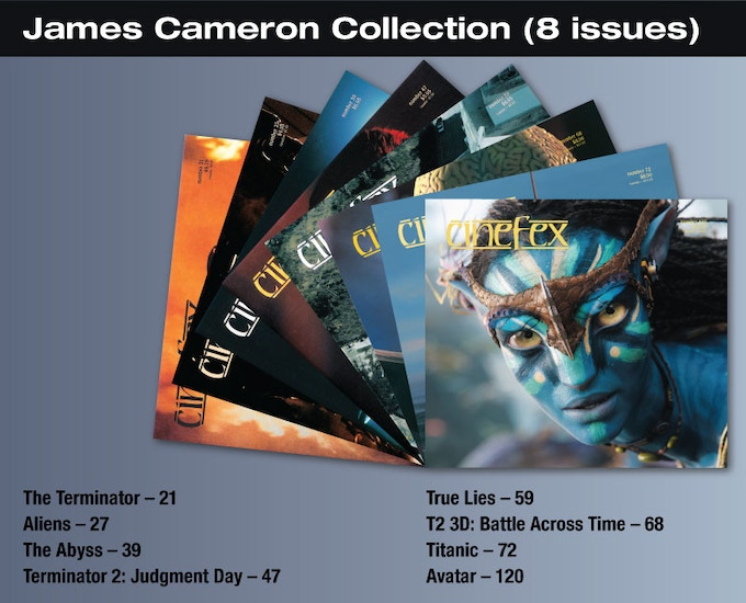 For the $25 backer level, you will be able to download to your iPad, these 8 issues of Cinefex on James Cameron.
