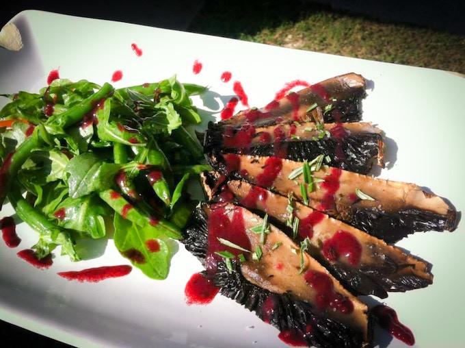 Grilled Portabella Mushrooms with Blackberry Gastrique