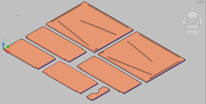 Basic CAD plan of version 2. This is the version that is offered in the rewards.