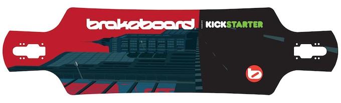 Brakeboard 'Funded with Kickstarter' deck design