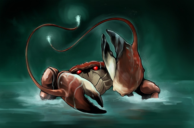 The dreaded Angler Crab
