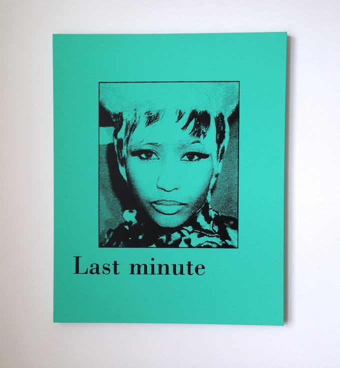Last minute (Nicki Minaj), silkscreen on canvas, 30 x 24 inches, 2011