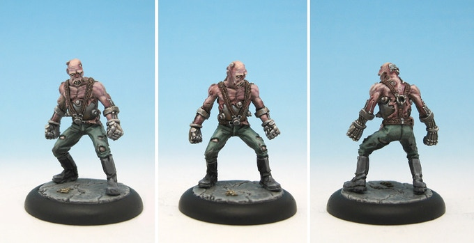 Painted metal Bomberzombie from 1st edition