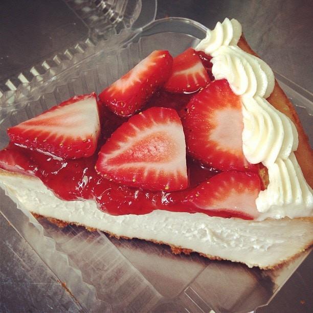 Traditional Vegan Cheesecake with Fresh Strawberries!