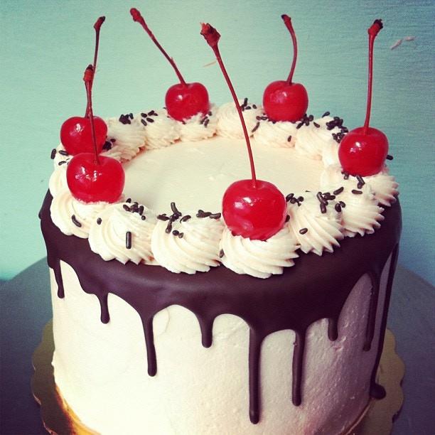 """6"""" Cherry Bomb Cake"""
