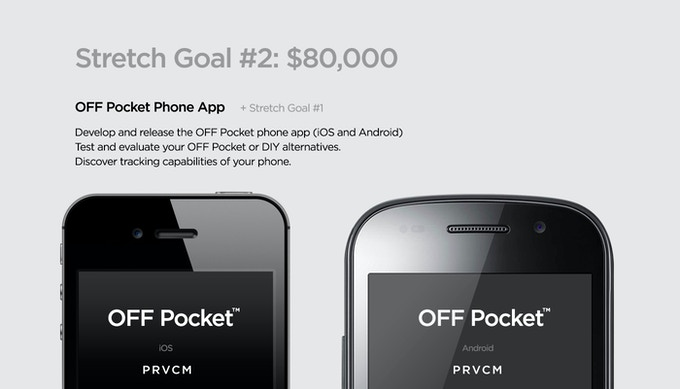 Stretch Goal #2: OFF Pocket Phone Apps (iOS & Android)