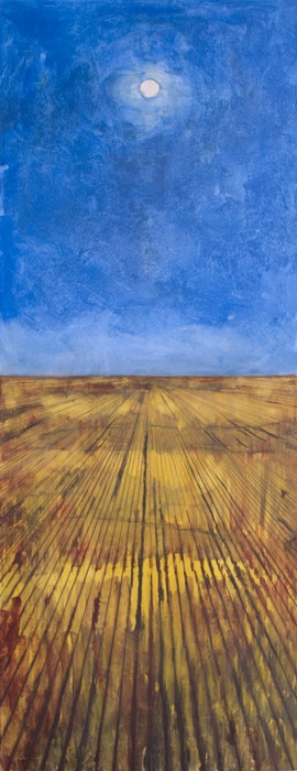 Cornfield, Oil, 64 x 24 inches