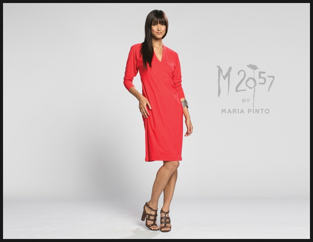 Nina Dress shown in Kickstarter Red