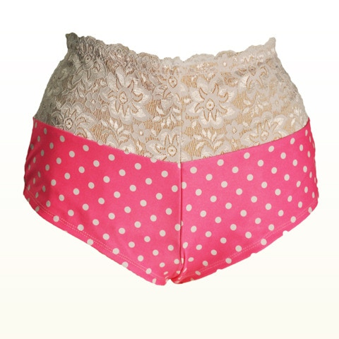 Pink Polka Dot Pocketed Booty Short