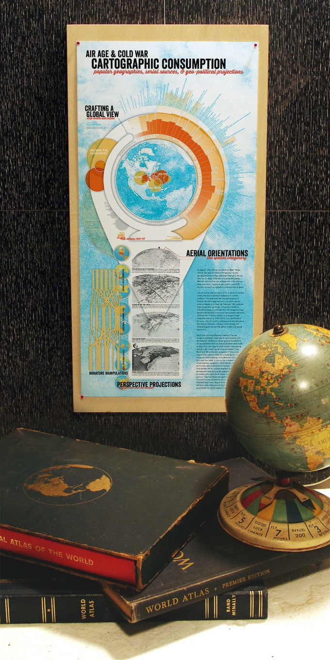 Air-Age and Cold War Cartographic Consumption (working proof, half-sized with objects)