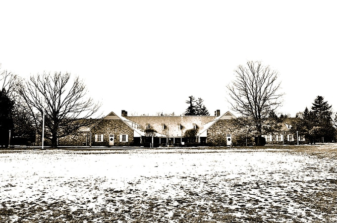 My photograph of the Franklin D. Roosevelt Presidential Library, Hyde Park, NY