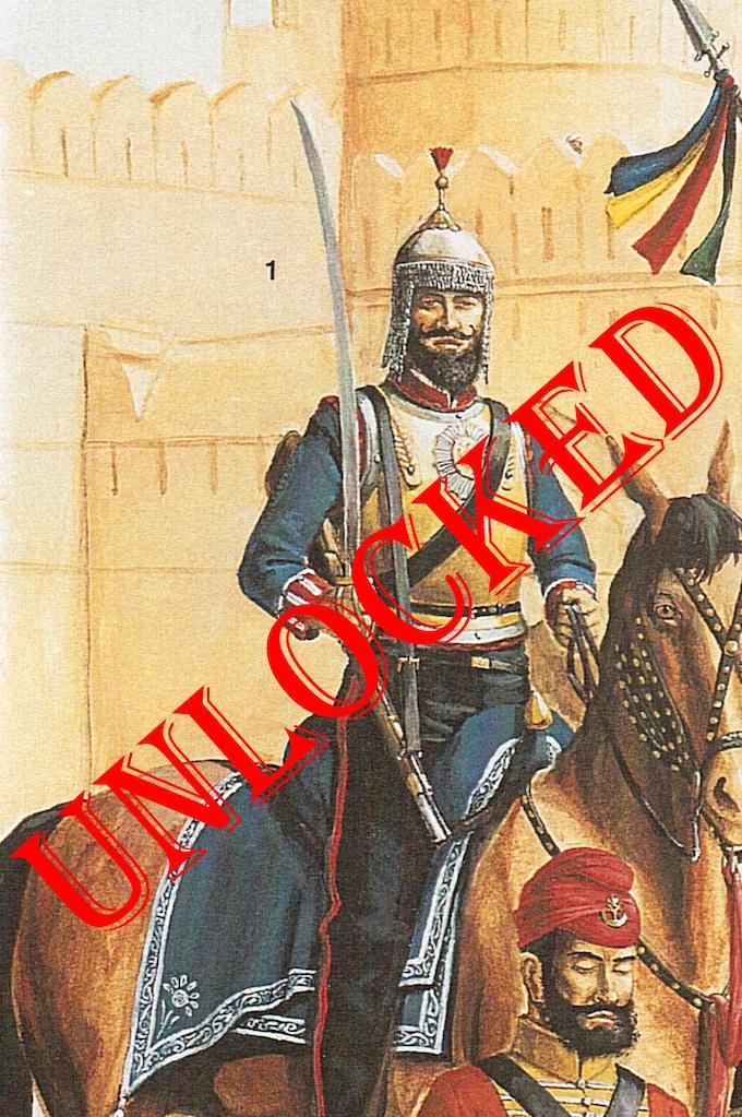 Sikh Cuirassier by M Perry. Copyright Osprey Publishing Ltd