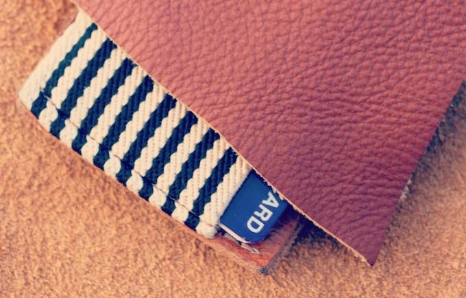Genuine Italian Leather, High Quality polyester elastic