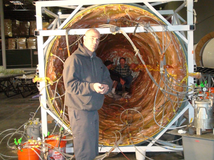 360-degree infusion with all internal structural components co-infused. L-R: Randy, Robby, Constantin