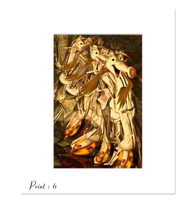 Print 6 : RV Duchamp Parody - artist L.M. Ruttkay