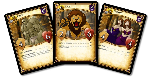 Prototype art shown above. Three examples of the beast characters created by Summoners.