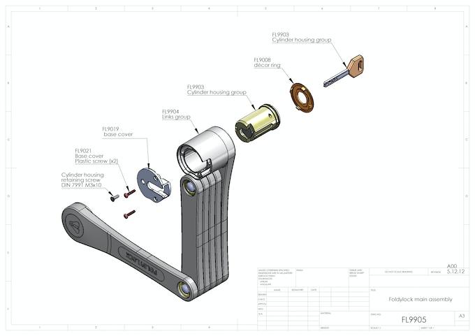 Foldylock assembly