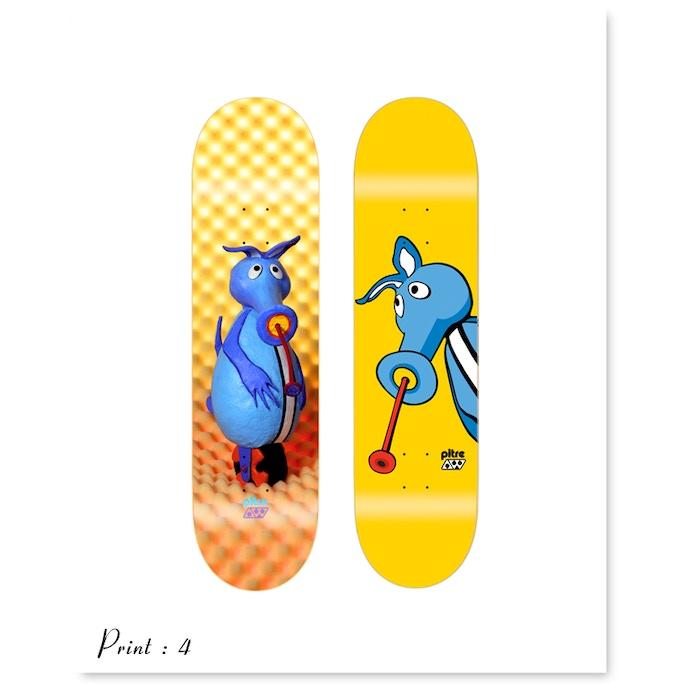Print 4 : 1993 and 1994 AWS aardvark deck series - artist Mike Hill