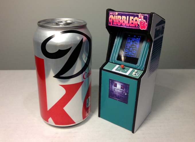 Mini Nibbler Cabinet Prototype (Diet Coke not included)
