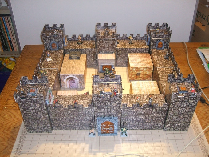 Castle set - shown here with a range of accessories