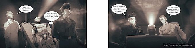 Episode 4 of Threshold Run online comic book
