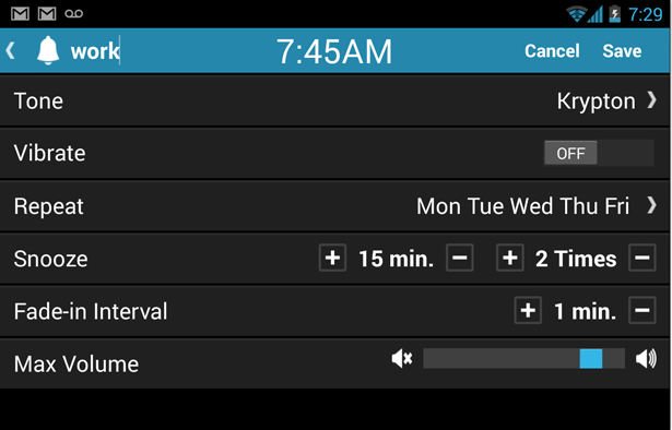 Customizable Alarm Settings