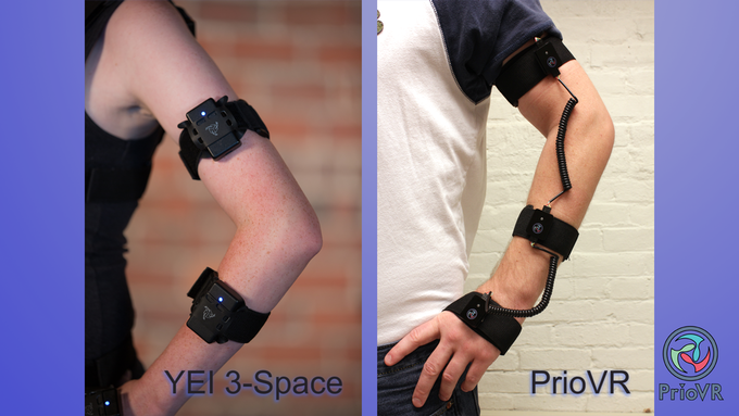 Our current prototype and the proposed PrioVR form-factor.