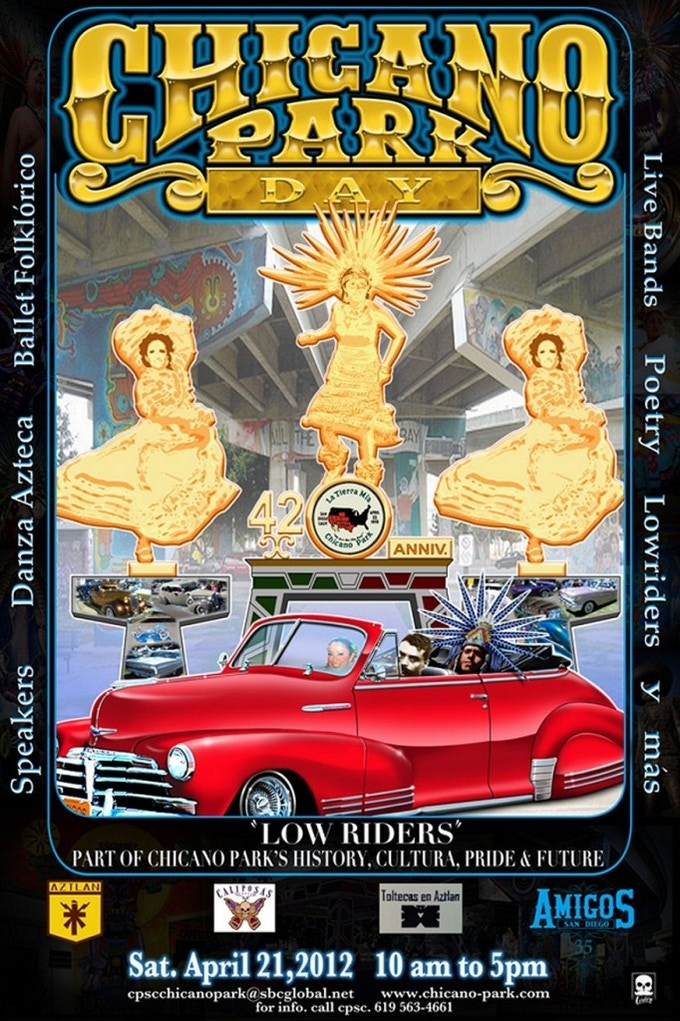 42nd Annual Chicano Park Day Poster, designed by renowned lowrider artist Victor Cordero