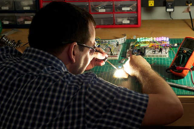 We became obsessive about finding the right LEDs. Sunglasses were an essential accessory.