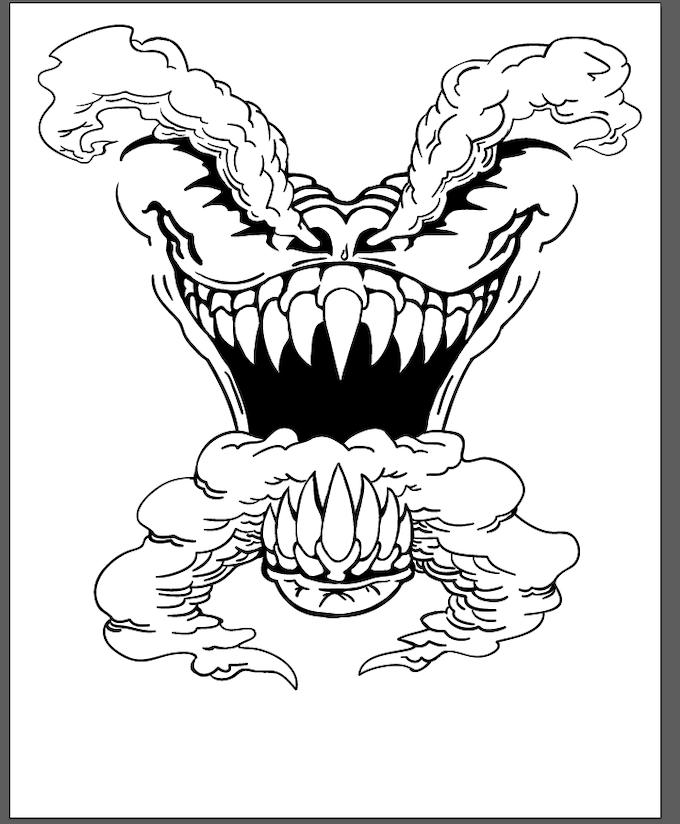 Monster Mouth Halloween T-shirt Project by Wyatt Garland