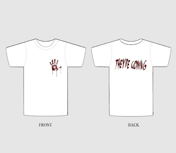Early draft of the T-Shirt.
