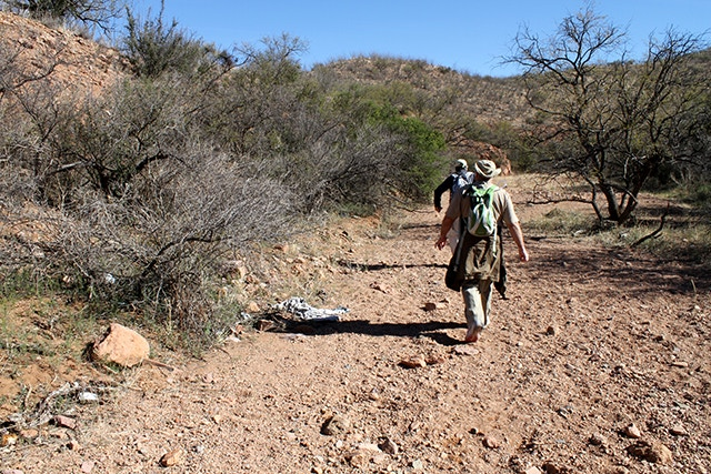 Hiking the migrant trails with the Tucson Samaritans.