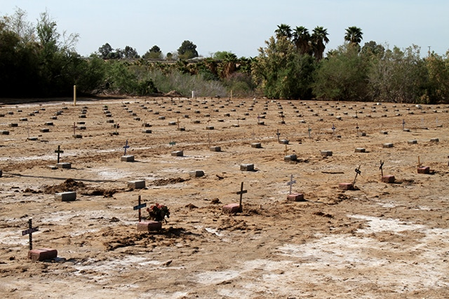 Hundreds of unidentified migrants are buried in cemeteries like this one in southern California.