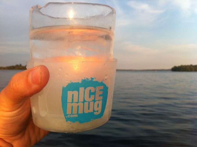nICE water on a boat before sunset.