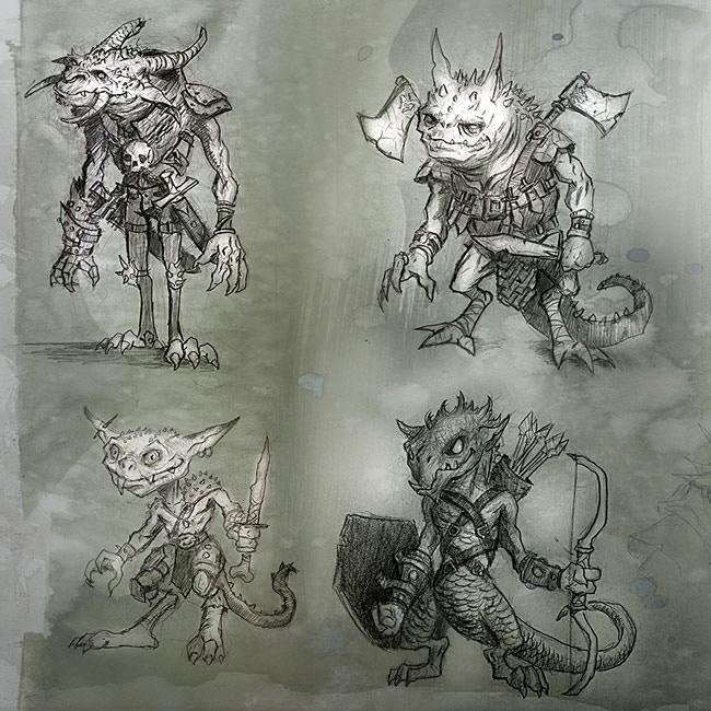 Goblin concepts from cover artist, Scott Altmann