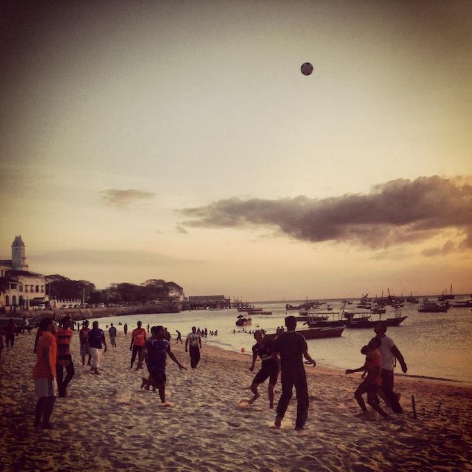 Beach soccer, Zanzibar